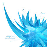 Abstract background with crystal virus. Royalty Free Stock Photos