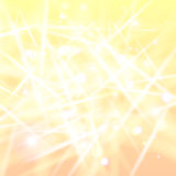 Abstract background with crystals of ice. Abstract yellow-pink background with glares like as crystals of ice at sunrise Stock Illustration