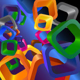 Abstract background WITH CUBE. Abstract background WITH colored  CUBE Royalty Free Stock Images