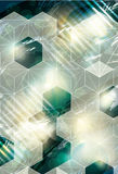 Abstract background with cube overlay Stock Image