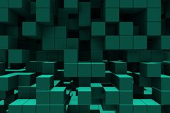 Abstract background - cubes stock illustration
