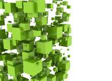 Abstract background - cubes. Abstract background - green cubes isolated on white Royalty Free Stock Photo