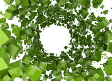 Abstract background - cubes. Green boxes illustration abstract network Stock Photos