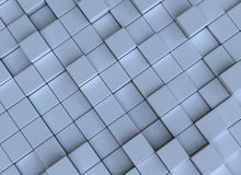 Abstract background - cubes. 3d generated blue abstract background with cubes Stock Photography