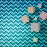 Abstract background with cubes. Abstract blue background with cubes Royalty Free Illustration
