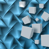 Abstract background with cubes. Abstract blue background with cubes Stock Illustration
