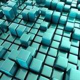 Abstract background of cubes vector illustration