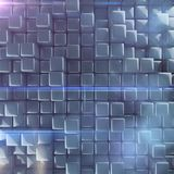 Abstract background of cubes. 3d rendering Royalty Free Stock Image
