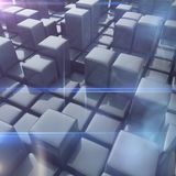Abstract background of cubes Stock Images