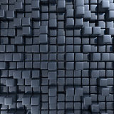 Abstract background of cubes. In black toned. 3d rendering Stock Images