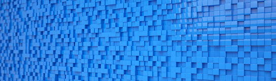 Abstract background - cubes - blue. 3d rendering of abstract blue cubes background Stock Images