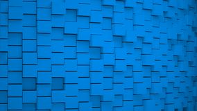 Abstract background with cubes Blue. Grouped elements  organized, 3D render Stock Images