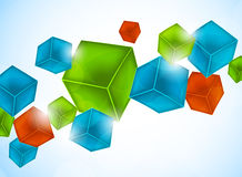 Abstract background with cubes Royalty Free Stock Photos