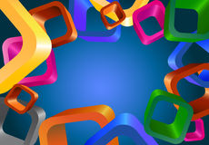 Abstract background with cubes Royalty Free Stock Photo