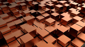 Abstract Background - cubes. 3D abstract background with metallic cubes Stock Photos