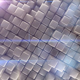 Abstract background of cubes. 3d rendering Royalty Free Stock Photo