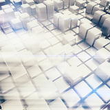 Abstract background of cubes. 3d rendering Royalty Free Stock Photography