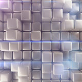 Abstract background of cubes. 3d rendering Stock Images