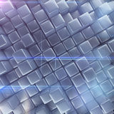 Abstract background of cubes. 3d rendering Stock Image