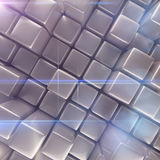 Abstract background of cubes. 3d rendering Royalty Free Stock Photos