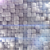 Abstract background of cubes. 3d rendering Stock Photos