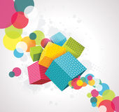Abstract background with cubes. 3D Vector Design Royalty Free Stock Photos