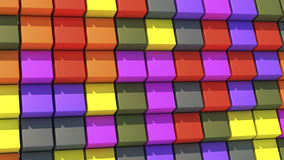 Abstract background with cubes of different colors. 3d rendering. Abstract background with cubes of different colors Stock Photos