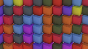 Abstract background with cubes of different colors. 3d rendering. Abstract background with cubes of different colors Stock Photo