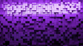 Abstract background with cubes in different levels. Purple 3D illustration Royalty Free Stock Images