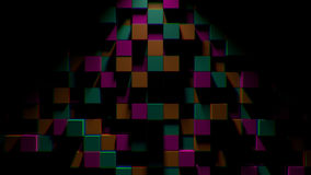 Abstract background with cubes. Digital backdrop. 3d rendered stock illustration
