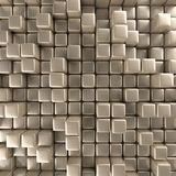 Abstract background of cubes. In gold toned. 3d rendering Stock Photo