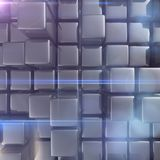 Abstract background of cubes. In gray toned Stock Photos