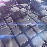 Abstract background of cubes. In gray toned royalty free illustration