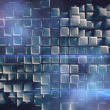 Abstract background of cubes Stock Photography