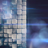 Abstract background of cubes Stock Photo