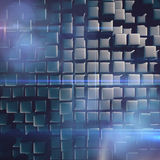 Abstract background of cubes. In gray toned Royalty Free Stock Photography