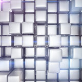 Abstract background of cubes. In gray toned Royalty Free Stock Photos