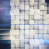 Abstract background of cubes. In gray toned. 3d rendering Royalty Free Stock Photo
