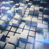 Abstract background of cubes Royalty Free Stock Photography