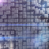 Abstract background of cubes. In gray toned. 3d rendering Stock Image