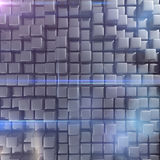 Abstract background of cubes. In gray toned. 3d rendering Stock Photo