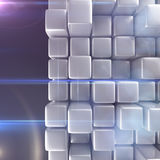 Abstract background of cubes. In gray toned. 3d rendering Royalty Free Stock Photography