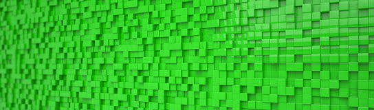 Abstract background - cubes - green Stock Images