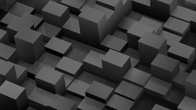 Abstract background of cubes and parallelepipeds in black colors. With shadows Royalty Free Stock Photos
