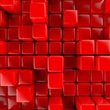 Abstract background of cubes Royalty Free Stock Images