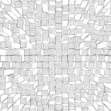 Abstract background of cubes and squares Royalty Free Stock Photos