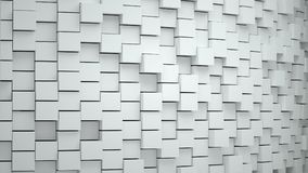 Abstract background with cubes white. Grouped elements  organized, 3D render Royalty Free Stock Photography