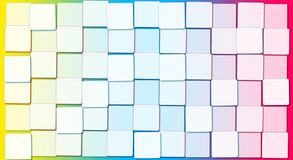 Abstract Background with Cubic Rainbow Blocks. Abstract Background with Cubic Rainbow and white Blocks royalty free illustration