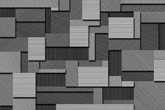 Abstract Background. A Cubist Abstract Background with Squares and Brushed Metal Texture Royalty Free Stock Images