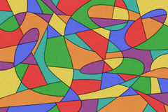 Abstract Background. A Cubist Abstract Background with Swirling Lines stock illustration